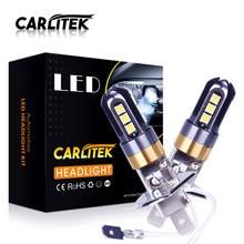 CARLitek 360 Super LED H3 żarówki do przednich reflektorów H1 6000K białe światło dla światła przeciwmgielne 12V światła do jazdy dziennej martwa wiązka wysokiej wiązka 2 sztuk SA