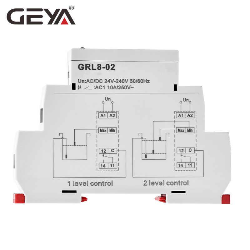Darmowa wysyłka GEYA GRL8 kontroler poziomu wody przekaźnik cieczy 10A AC DC 24V 220V szeroki zakres napięcia przekaźnik pompy wody