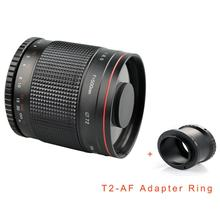 Portable Ultra-long Focal Lens 500mm F / 8 Ultra-long Focal Lens for Canon/Pentax/M4/3/SONY/NEX High Performance(China)