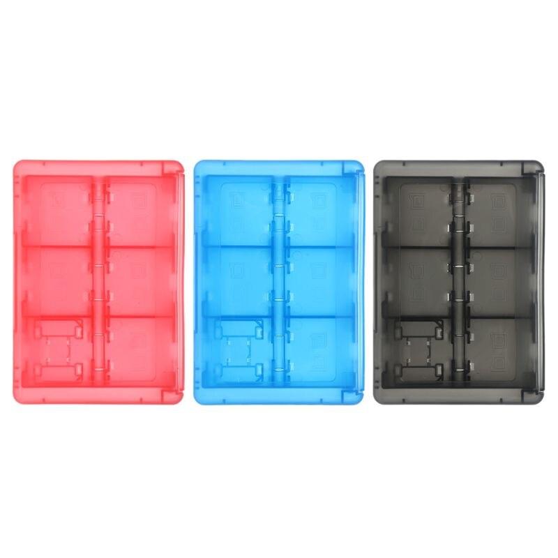 24 В 1 защитный держатель картриджа для карт, коробка для хранения, органайзер, ударопрочный корпус, портативный для Nintendo Switch 3DS2DS/DS Lite/DSL