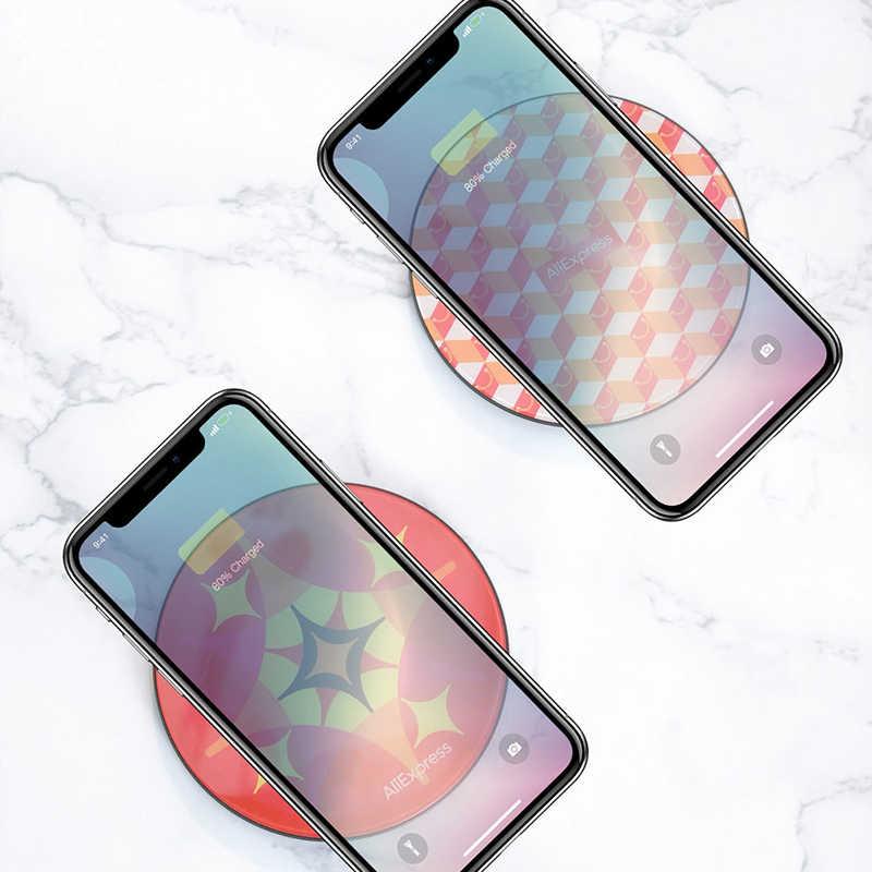 AliExpress & Baseus Joint ออกแบบ 10W Wireless Charger สำหรับ iPhone XS MAX XR Qi ชาร์จไร้สายสำหรับ Samsung galaxy S9 หมายเหตุ 10