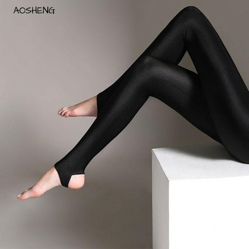 S-3XL Size Women Shiny Black Legging Autumn Ladies Push Up Slim Leggings High Waist Stretchy Soft  Large Size Women Legging Y077