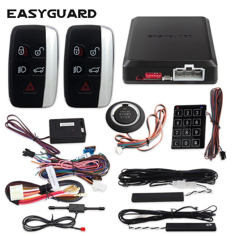 Easyguard Security Pke Car Alarm System For Remote Starter Remote Central Lock System Keyless Entry Start Stop Button Keyless Go Start Stop Car Alarm Vibrationalarm Remote Aliexpress