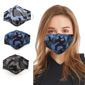 Fashion Face Mouth Mask Reusable Washable Masks Breathable Cotton PM2.5  Mouth Cover Filter Mask Fits Adults/3-12 Years Old Kids 1
