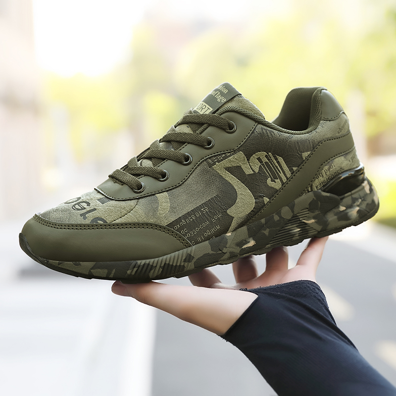 Fashion Sneakers For Men Outdoor Army Green Casual Shoes Men Camouflage Comfortable Mans Walking Footwear Lovers Size 36-44