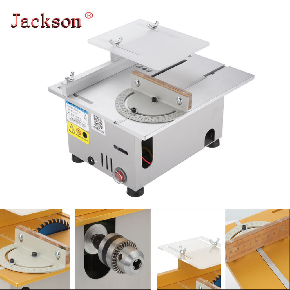 Multi-function T6 Mini Precision Table Saws DIY Wood Working Lathe Polisher Drilling Machine For Wooden Model Crafts