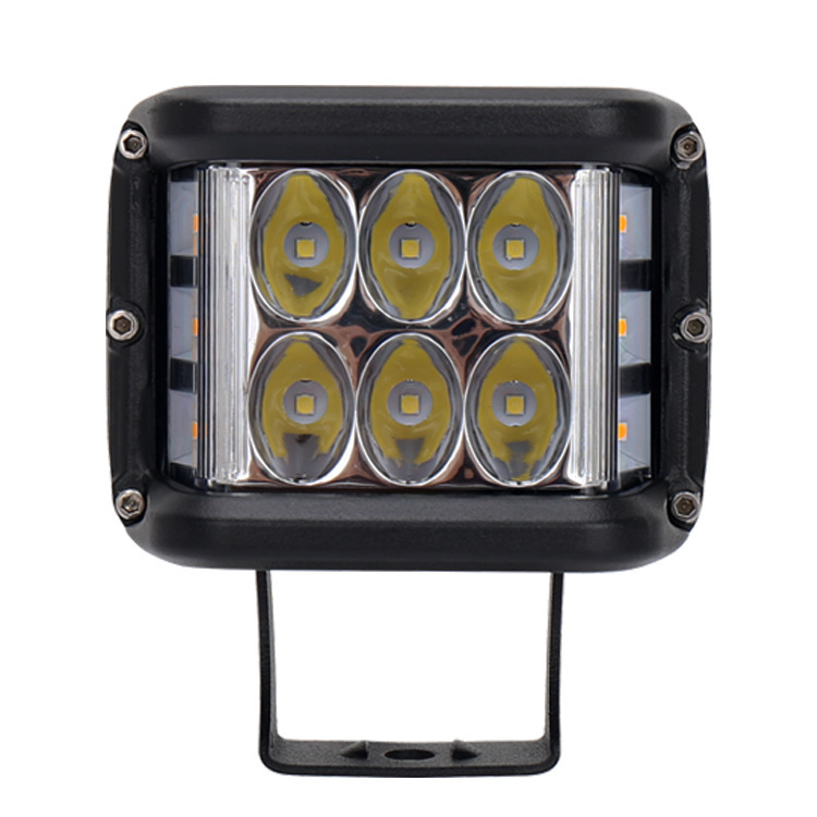 Cross-border Glow For Three Sides Burst Flashing LED Car Light 45 W 60 W Off-road Lights
