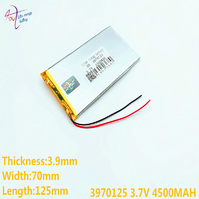 1pcs/lot Wholesale 4070125 3970125 .3.7V 4500MAH lithium polymer batteries, flat DVD ,Tablet PC, game consoles