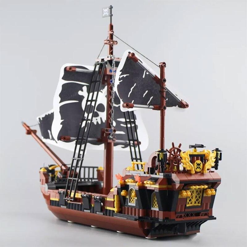 Toys Model Ship Series QL1800 Compatible Lepinblocks Pirates Assembled  Building Blocks Bricks Christmas Birthday Gifts Блочные конструкторы     АлиЭкспресс