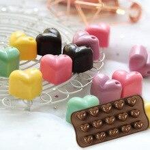 15 Lattice Heart-shaped Silica Gel Chocolate Mold Silica Gel Baking Mold French Dessert Mold silica aerogels