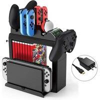Cargador Estación De Carga Nintendo Switch para Nintendo Switch NS, mando Joy-con, soporte de apoyo colgante