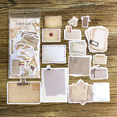 45PCS/LOT Vintage Old Times Paper Notes Pack DIY Bullet Journal Decoration Supplies