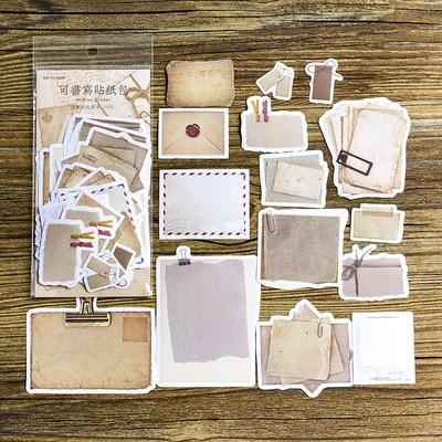 45PCS/LOT Vintage Old Times Paper Notes Pack DIY Bullet Journal Decoration Supplies
