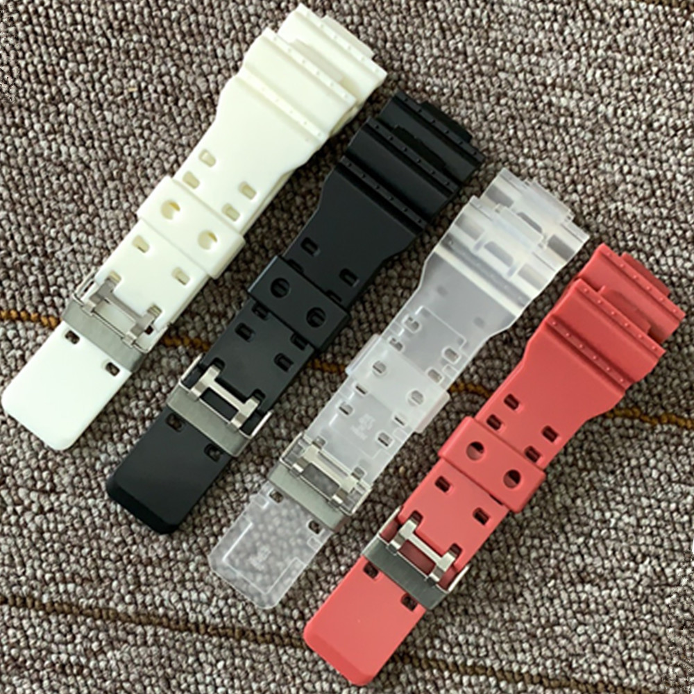 16mm Silicone Rubber <font><b>Watch</b></font> Band <font><b>Strap</b></font> Fit For Casio <font><b>G</b></font> <font><b>Shock</b></font> Replacement Black Waterproof Watchbands Accessories image