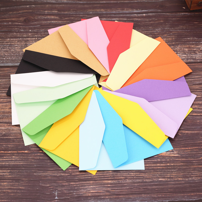 16x11cm 10pcs/pack Paper Envelopes Greeting Card Packing Colorful Color Letter Gift Envelope Red Pink Blue Green