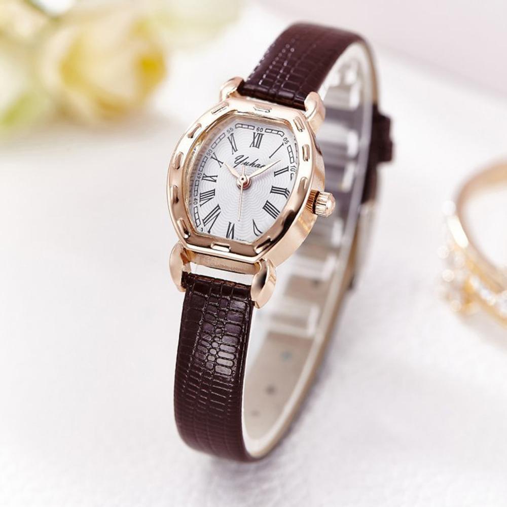 Retro Women's Watches Casual Thin Belt Leather Quartz Watch Ladies Bracelet WristWatch Women Fashion Dress Clock Gift For Girl