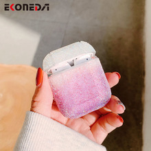 EKONEDA Ingradient Color Bling Diamonds Case For Airpods 1 2 Protective Girly Earphone Cover For Airpods Case