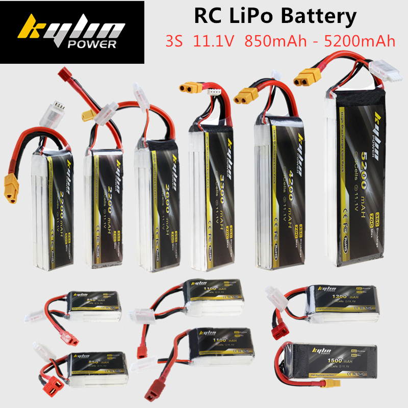 3S RC <font><b>LiPo</b></font> Battery <font><b>11.1V</b></font> 850mAh 1100mAh 1300mAh 1500mAh <font><b>2200mAh</b></font> 2600mAh 3300mAh 4200mAh 5200mAh 25C 35C 45C For RC Drone Battery image