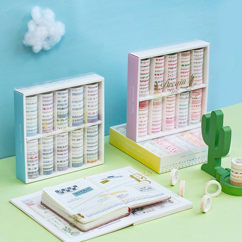 (100 Pieces/lot) Washi Tape Set Dream Weaving Line Series Basic Handbook Simple Stickers Masking Tape