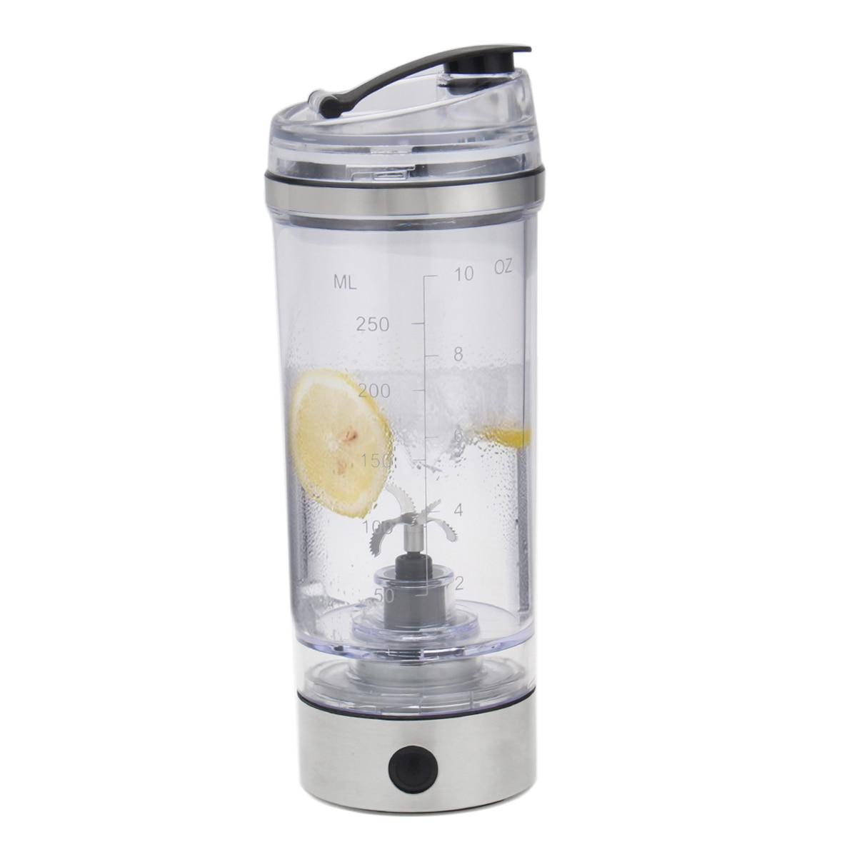 Hf32e3f59e3d44f3f9832415064e39782u 2019 250ML Electric Protein Shake Stirrer USB Shake Bottle Milk Coffee Blender Kettle Fitness Vortex Tornado Smart Mixer