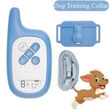 Cute Dog Training Collar Pet anti-barking Device Rechargeable Dog Bark Control Collar Electronic shock collar training device