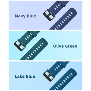 Image 3 - 20 مللي متر الأصلي الملونة Huami Amazfit لينة سيليكون حزام الساعات ل Amazfit بيب و بيب لايت و GTR و GTS مع هدية صندوق Amazift حزام
