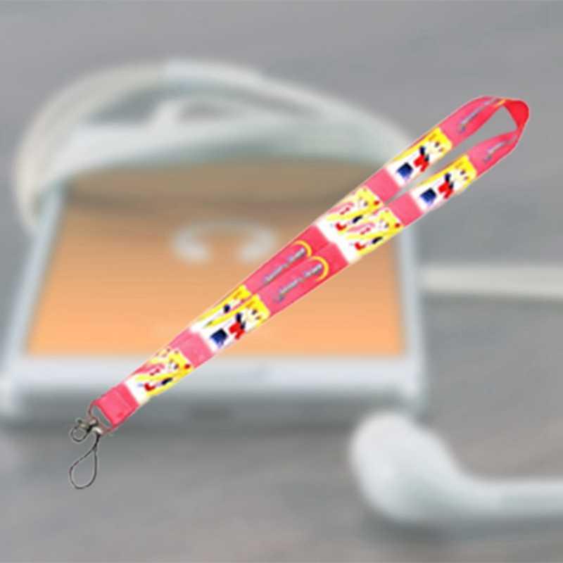 Leuke Sailor Moon Neck Strap Lanyards voor sleutels Id-kaart Gym Mobiele Telefoon Bandjes USB Badge Houder Touw Hanger Anime sleutelhanger Gift