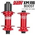 KOOZER XM390 Boost Hub 4 Bearings MTB Hub 6 Bolt 15x110 12x148 for Micro Spline 12S Shimano 8-12S Sram XD 12S Bike Bicycle Hub