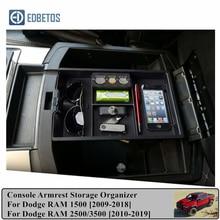 Car Armrest Box Storage For Dodge RAM 1500/2500/3500 2009 2019 Central Console Storage Box Interior Accessories