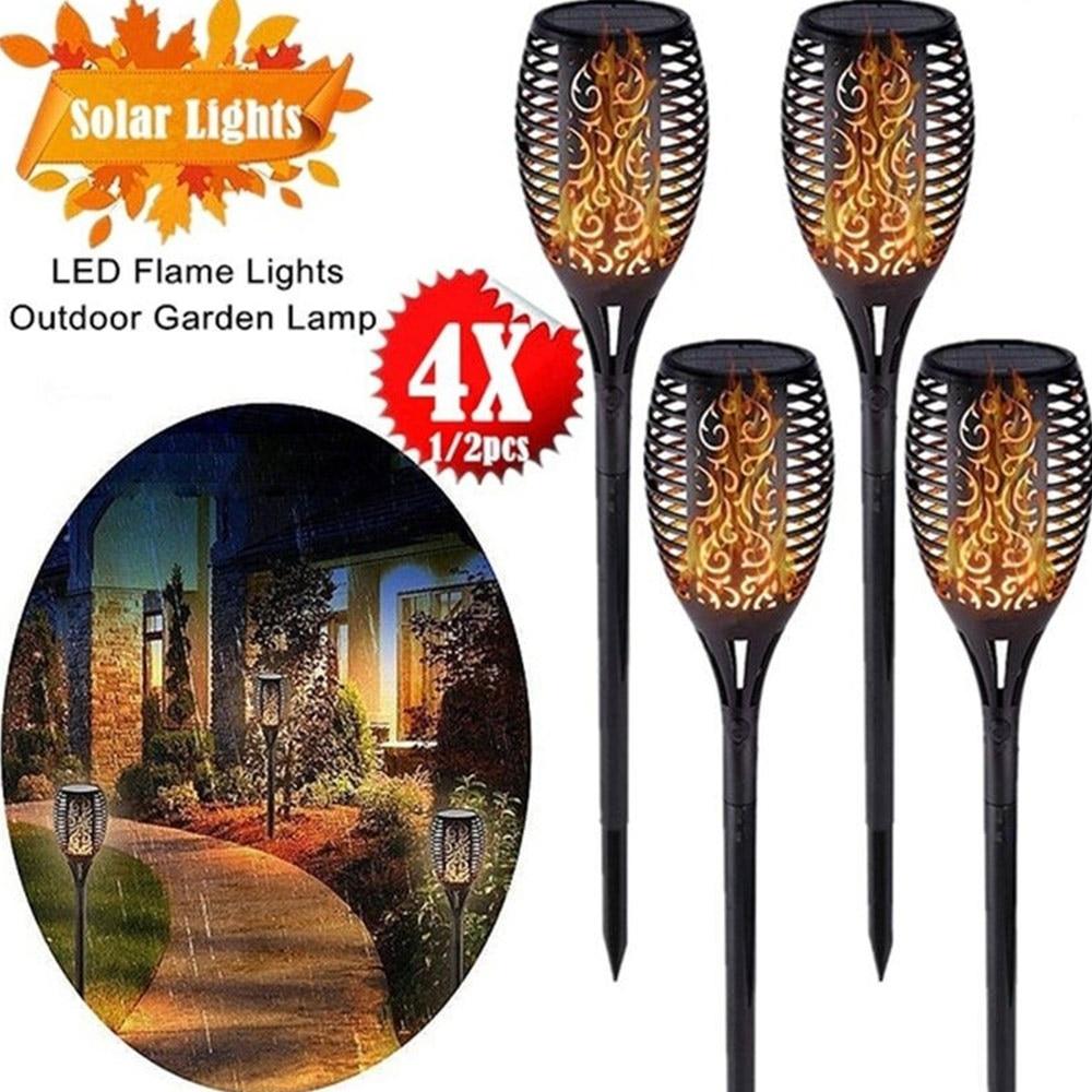 LED Solar Flamme Lampe Sicherheit IP66 600MAH Hof Rasen Nacht Lichter Weihnachten Garten Landschaft Beleuchtung Outdoor Scheinwerfer