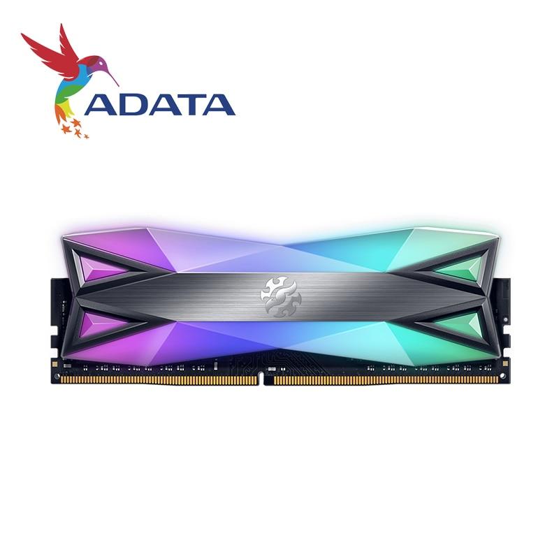 ADATA XPG DDR4 D60G RGB 16 Гб (2x8 ГБ) 3200 МГц PC4-25600 U-DIMM память для рабочего стола CL16 2x двухканальный 3200 МГц 3600 МГц