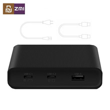 Оригинальное настольное зарядное устройство ZMI 65 Вт с 3 портами PD3.0 USB 2C1A для Android iOS Switch PD 3,0 QC, умная выходная мощность, максимальное быстрое зарядное устройство