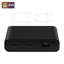 """מקורי ZMI שולחן העבודה מטען 65W 3 יציאת PD3.0 USB 2C1A עבור אנדרואיד iOS מתג פ""""ד 3.0 QC חכם פלט מקסימום סולו c1 65w"""