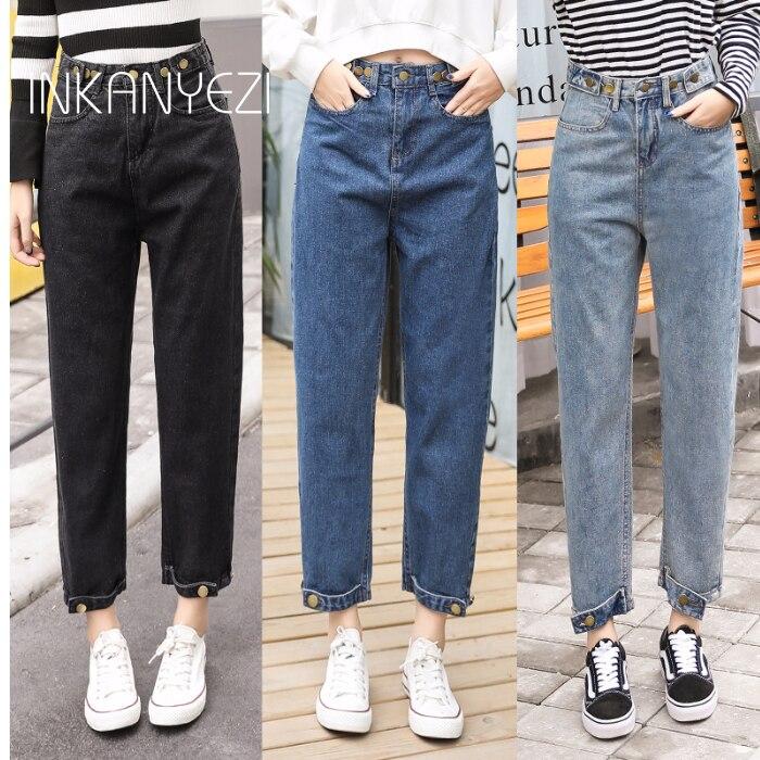 High Waist Jeans Women Streetwear Bandage Denim Plus Size Jeans Femme Pencil Pants Skinny Jeans Woman -85