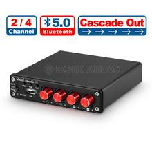 Nobsound HiFi Stereo Bluetooth 5.0 Power Amplifier Home 2 / 4 Channel Multi-room Digital Audio Amp 50W×4