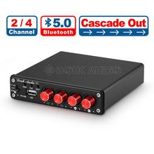 Nobsound estéreo de alta fidelidade bluetooth 5.0 amplificador de potência casa 2 / 4 canais multi sala de áudio digital amp 50 w × 4