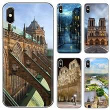 Capa de telefone de silicone doce catedral de notre-dame en paris para huawei p7 p8 p9 p10 p20 p30 p40 lite plus pro 2015 2016 2017 mini