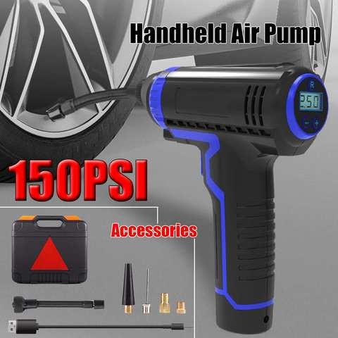 12v compressor de ar do carro protable sem fio handheld novo carregamento usb inflator bomba