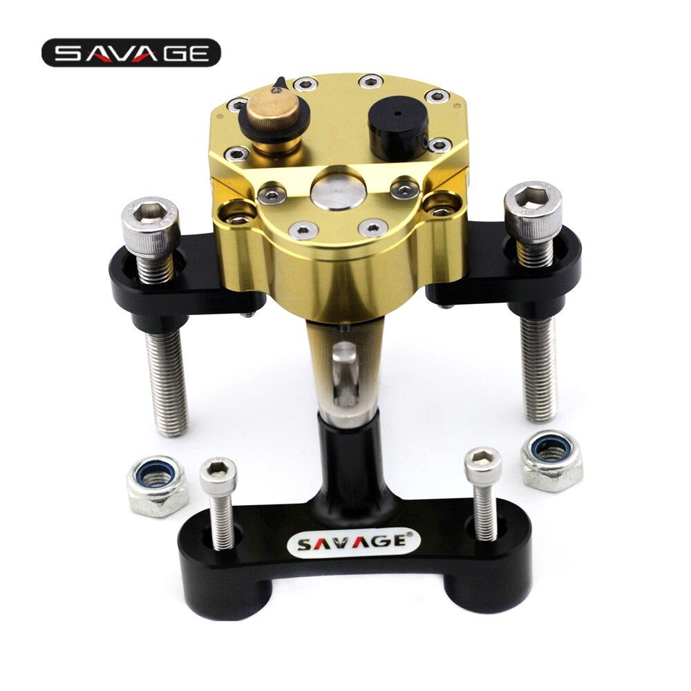 Steering Damper Stabilizer For SUZUKI GSX1300R HAYABUSA 2008-2020 19 18 Adjustable Motorcycle Accessories Bracket Reverse Safety
