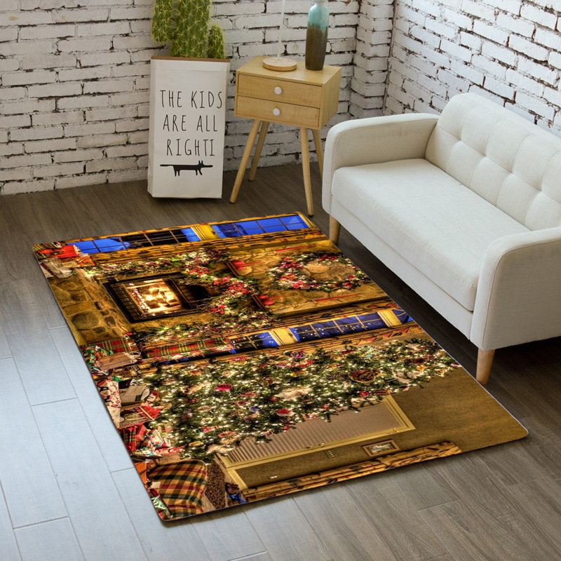 Nordic Santa Claus Carpet Home Decor Bedroom Bedside Rug Mat Soft Dining Room Area Rugs Christmas Big Carpets Living Room Carpet Aliexpress