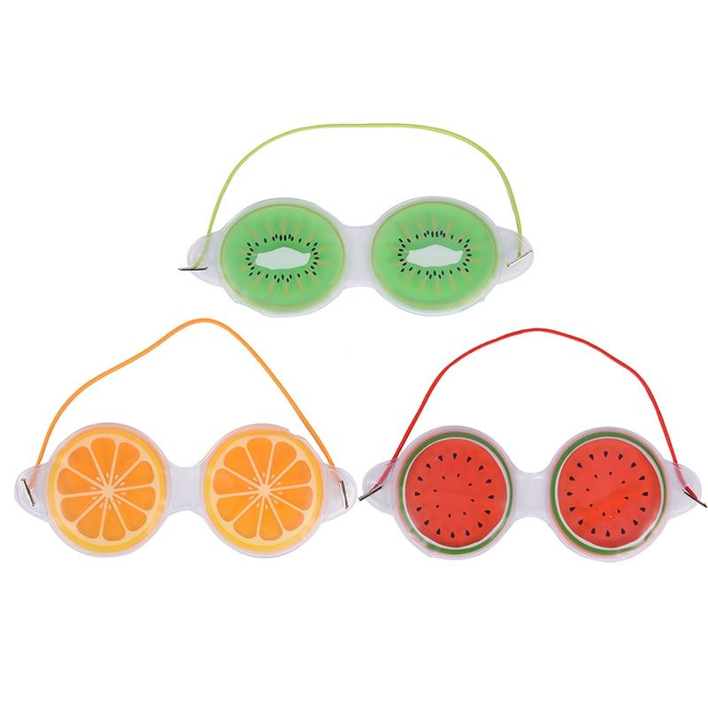 Gelo kawaii fruta gel gel gel de gel máscara de olho sono bem compressa gel alívio da fadiga dos olhos refrigeração cuidados com os olhos relaxamento máscara