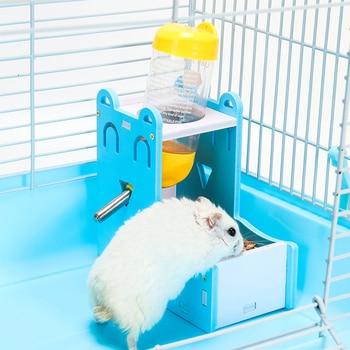 2in1Plastic Hamster Drinker Water Bottle Dispenser Feeder Hanging Pet Dog Guinea Pig Squirrel Rabbit Drinking Head Pipe Fountain
