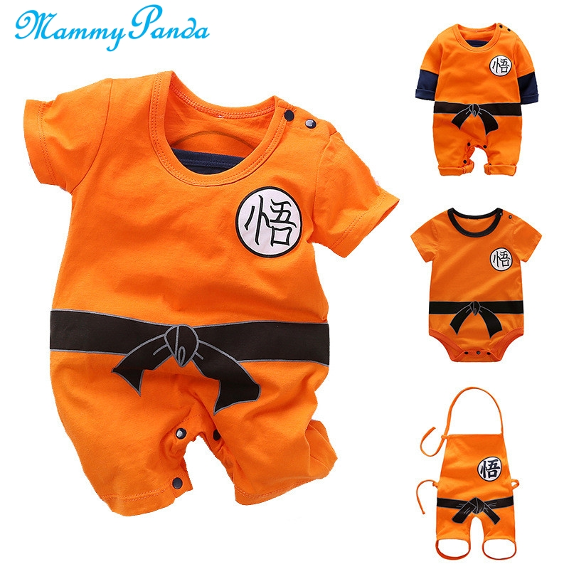 Dragon Ball <font><b>Baby</b></font> Rompers Newborn <font><b>Baby</b></font> Boys Clothes SON GOKU Toddler Jumpsuit Bebes Halloween Costumes For <font><b>Baby</b></font> Boy Girl <font><b>Clothing</b></font> image