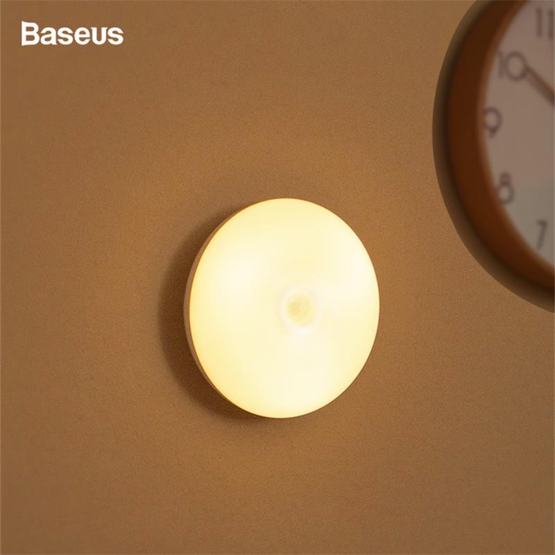 Baseus LED Night Light With PIR Intelligent Motion Sensor Nightlight For Office Home Bedroom Bed Room Human Induction Night Lamp