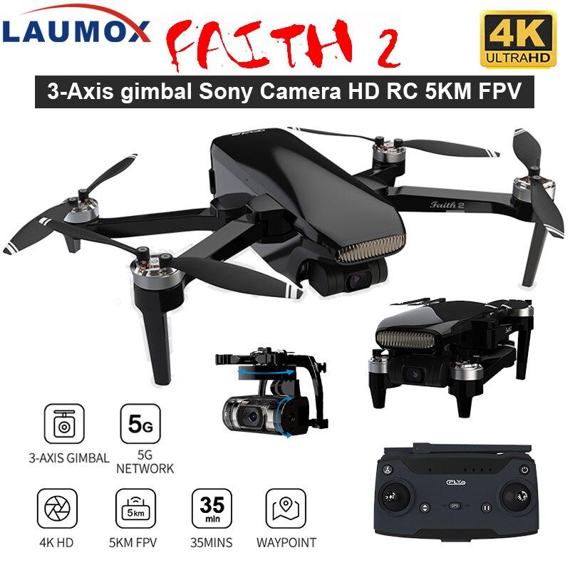 LAUMOX wiary 2 Drone 4K GPS kamera HD 3-osiowy Gimbal Quadcopter profesjonalne 35min lotu RC 5KM SG906 PRO 2 X8SE F11 4K PRO