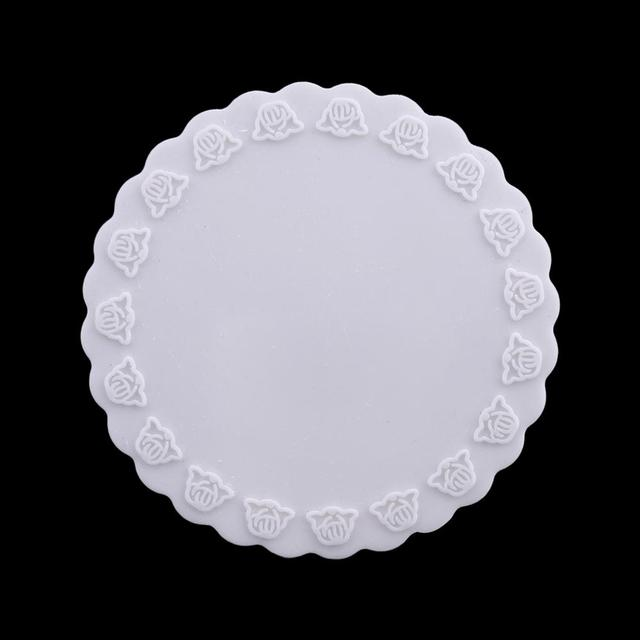 Silicone Round Pads Open Bezel Tray Blank Frame Tool For UV Resin Jewelry Making