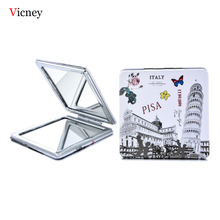 Vicney 2019 New Design Makeup Mirror Portable Double-Sided Fashion Creative Pocket Compact Protective Gifts