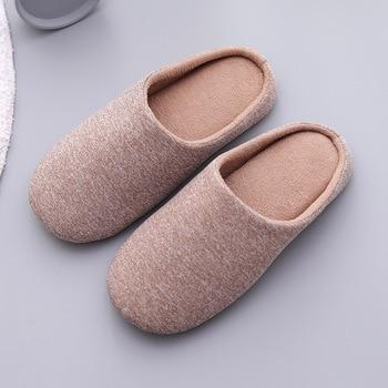 Mntrerm 2019 men Cotton Home Slippers Cute Slippers Winter Warm Plush Indoor Slipper men Warm Soft Bottom Shoes 1