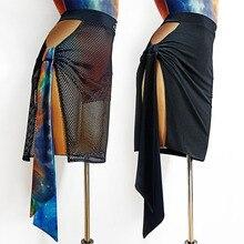 Skirt Latin Costume Dancewear Waltz Performance Tango Women New TL573 Trot Right-Hole