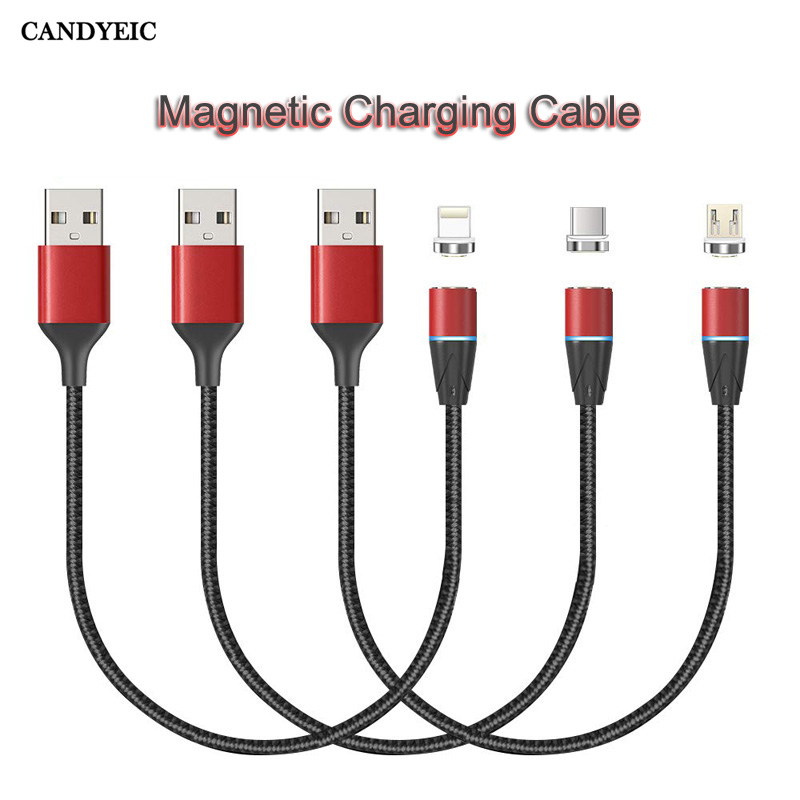 CANDYEIC Magnetic Charging Cable For IPhone 11 Pro Max XR XS XSMAX X 8 7 Plus 6s Plus 5 5S SE Magnetic Adapter Fast Charger